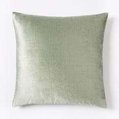 Cotton Lustre Velvet Cushion Cover Light Sage ($35) ❤ liked on Polyvore featuring home, home decor, throw pillows, velvet throw pillows, velvet accent pillows, cotton throw pillows and sage throw pillows