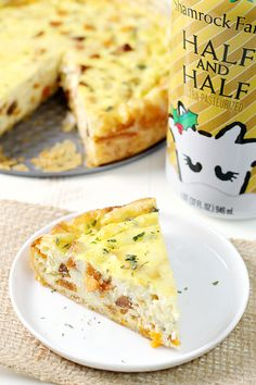 This flavorful quiche made with Shamrock Farms Half and Half tantalizes the taste buds and wraps you in warmth.