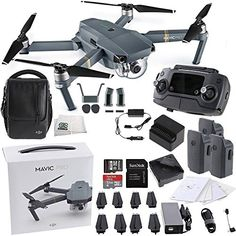 DJI Mavic Pro Fly More Combo Collapsible Quadcopter Drone Bundle * Details can be found by clicking on the image. (This is an affiliate link) Rc Drone With Camera, Spy Camera, Best Camera, Drones, Drone Quadcopter, Cyber Monday, Mavic Drone, Perfect Selfie, Drone Technology