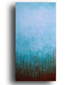 ORIGINAL landscape painting on stretched canvas  by studiomosaic, $145.00