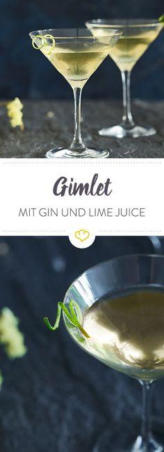 Hast du Lust auf einen absoluten Bar-Klassiker? Dann mix dir einen erfrischenden Gimlet mit Gin, Lime Juice und einem Spritzer frischer Limette.