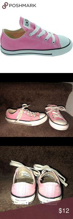 f8c85117e3c0a2 Girls size 12 pink converse Little girls size 12 pink converse