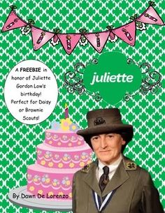 Celebrate Juliette Gordon Low's birthday (Girl Scout Founder's Day!) with this great pumpkin craft!  Perfect for Daisies and Brownies!  Has facts about Juliette that combine to create a 3D pumpkin which is ideal since Juliette's birthday is on Halloween!