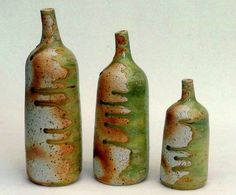Michael Wein: side fired bottles, raku