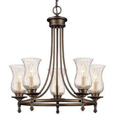 Grace 5-Light Rubbed-Bronze Chandelier-14689 at The Home Depot - $179