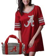Alabama Crimson Tide Ladies Nightgown & Mini Duffel Bag - Crimson