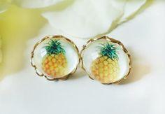 Pineapple earrings - so cute!  etsy.
