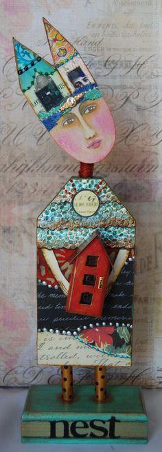 Altered Art Doll Nest by desertdreamstudios on Etsy