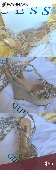 Guess Wedge s - size 9 Beautiful Guess wedge s purchased in Milan Italy!!  Worn twice 9cd4bf5d3b0de