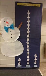 "Measurement- fun for a cold day!  ""Are you taller, shorter, or the same size as the snowman?"""