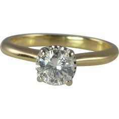 Brilliant White 0.60ct Diamond Solitaire 14kt Gold Engagement Ring