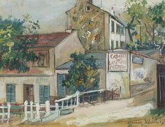 The Cabaret of Lapin Agile at Montmartre, 1923. Maurice Utrillo (1883-1955)