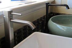 Bathroom faucet displays Bathroom Faucets, Aprons, Showroom, Sink, Display, Home Decor, Bath Taps, Sink Tops, Floor Space