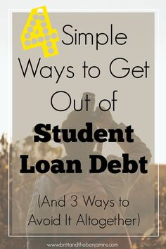 Crippled by student loan debt? Here are 4 ways to dig yourself back out of that hole.and quick. Student Loans I College I Debt I Millennial I Personal Finance - Ideas to help you gain control over your debts. Apply For Student Loans, Paying Off Student Loans, Student Loan Debt, Earn More Money, Ways To Save Money, Money Tips, Student Loan Forgiveness, Loan Consolidation, Scholarships For College