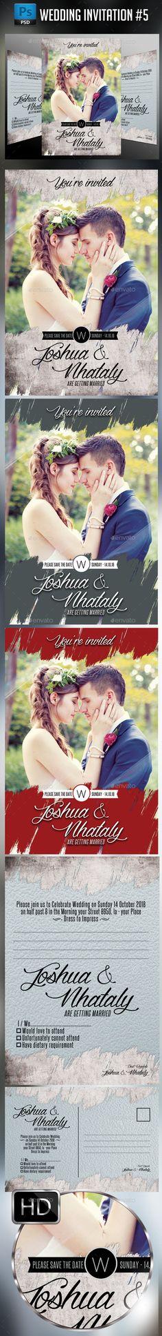 Wedding Invitation Template #design Download: http://graphicriver.net/item/wedding-invitation-5/12356964?ref=ksioks