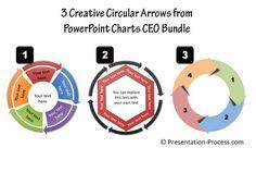 Creative circular arrow diagrams from PowerPoint CEO packs bundle