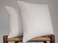 Knit Sweater Pillow Covers Up Cycled Cotton by ButtermilkCottage
