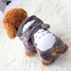 Totoro-Hoodie-Costume-Dog-Clothes-Pet-Jacket-Coat-Puppy-Cat-Apparel-Winter-Warm