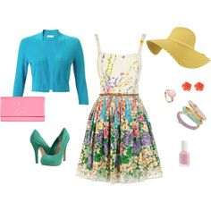 easter sunday outfit, created by rebeccabedazzled on Polyvore