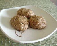 Biscoitos integrais de abóbora com coco - vegano