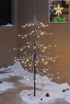 Amazon.com - Christmas Promotion 40% OFF! Lightshare™ NEW 4FT 112L LED Fir Snow Tree, +Free Gift:10L LED Star Treetop Decoration Light, Home/Festival/Party/Christmas, Indoor and Outdoor Use, Warm White -
