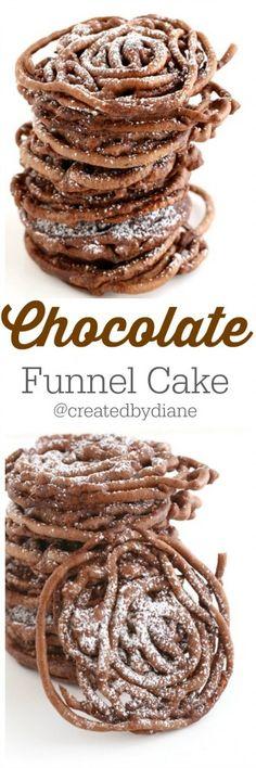 Chocolate funnel cake from @createdbydiane