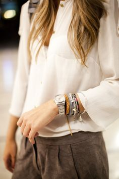 Simple look with lots of bangles