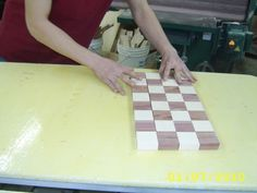 How to make a wooden chess set.