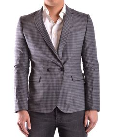 BIKKEMBERGS Bikkembergs Men'S Mcbi042002O Grey Wool Blazer'. #bikkembergs #cloth #coats & jackets