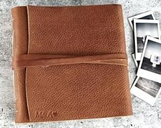 Leather Photo Album Personalized Photo Album Vintage Photo   Etsy