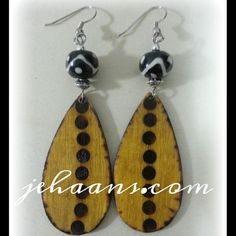 Spicey Mustard spotted Tribe Earrings by JEHAANS on Etsy, $25.00