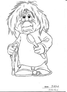 Original drawings. - www.damworld.dk People Coloring Pages, Frozen Coloring Pages, Mermaid Coloring Pages, Disney Frozen Crafts, Frozen Images, Troll Costume, Wood Carving For Beginners, Coloring Rocks, Norwegian Rosemaling