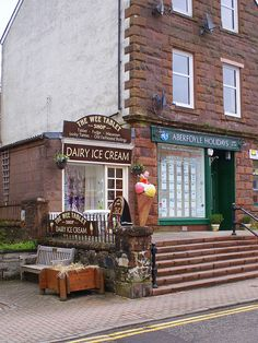 Aberfoyle is a small but busy holiday and visitor town within the Trossachs area of Scotland, visit the sweetie shop.