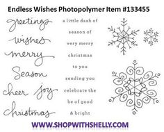 Stampin' Up! Endless Wishes Photopolymer Stamp Set