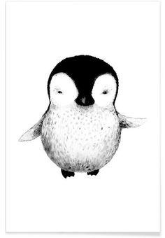 Penguin en Affiche premium par Tvinkla | JUNIQE