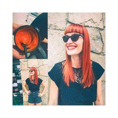 Para lucir ese color, hay que tener el pelo muy cuidado y ella sí que lo tiene porque lo mima mucho))😃 <3  Cabellos rojos-pelirrojos muestran personalidad, fuerza y sensualidad como no!🔥❤🔥  #coloresatrevidos #peluquería #BeGoodi #barcelona
