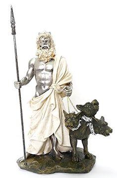 statue d�hades et de cerb232re chien a trois t234te gardien