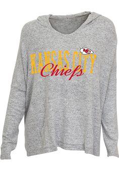 b7d33ad0ce6c Kansas City Chiefs Womens Grey Reprise Hooded Sweatshirt - 5621642