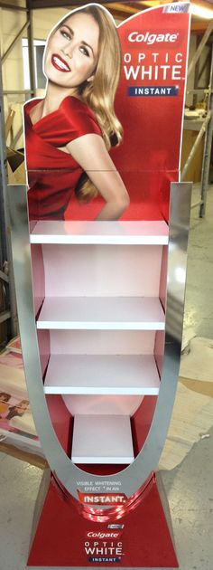Colgate Free standing unit - point of sale SA - great example of using different substrates and methods to manufacture a perfect solution