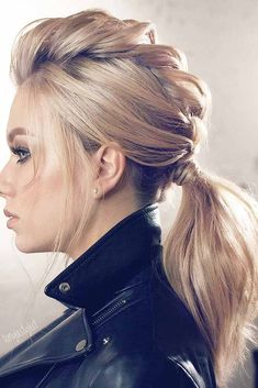45 Gorgeous Winter Hairstyles For Long Hair - Hair & Beauty - Hairdos Ideas Cool Braid Hairstyles, Winter Hairstyles, Hairstyle Ideas, Latest Hairstyles, Hairstyles 2016, Rocker Hairstyles, Oscar Hairstyles, Wedding Hairstyles, Faux Hawk Hairstyles