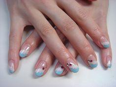 baby blue nail