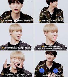Jimin has always liked Jungkook, but Jungkook likes Taehyung. Jungkook finds out Jimin likes him, so he bully's him for no reason. Bts Namjoon, Bts Jimin, Jung Hoseok, Yoonmin, Bts Memes, Funny Memes, Logic Memes, K Pop, Jikook