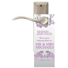 $20 for 20 #Wedding #DoNotDisturb #DoorHangers for #WelcomeBags and #WeddingFavors by www.bestwelcomebags.com