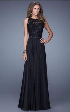 Chiffon Jewel Natural A-line Floor-length Formal Dresses abbb1006