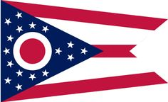"Illustration: state flag of Ohio. Source: Wikimedia Commons. Read more on the GenealogyBank blog: ""Ohio Archives: 194 Newspapers for Genealogy Research."" http://blog.genealogybank.com/ohio-archives-194-newspapers-for-genealogy-research.html"