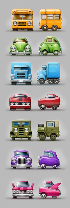 Cubic cars game concepts by Igor Udushlivy, via Behance