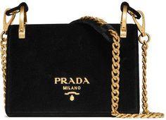 Prada - Pionnière Velvet Shoulder Bag - Black #affiliate #prada