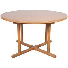 Oak Round Extension Table in the Style of Charlotte Perriand   1stdibs.com
