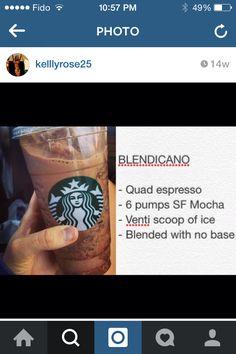 Blendicano Healthy Starbucks Drinks, Secret Starbucks Drinks, Starbucks Secret Menu, Healthy Drinks, Starbucks Hacks, Starbucks Refreshers, Starbucks Coffee, Mixed Drinks, Fun Drinks