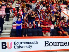 BU international students enjoying a live AFC Bournemouth match. Bournemouth University, Afc Bournemouth, Work Looks, The Past, Students, Activities, Live, Business Look